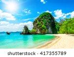 beautiful tropical island   Shutterstock . vector #417355789