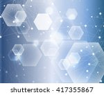 structure molecule and... | Shutterstock . vector #417355867