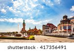 beautiful architecture of sopot ... | Shutterstock . vector #417356491