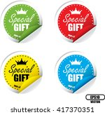 special gift colorful label ... | Shutterstock .eps vector #417370351