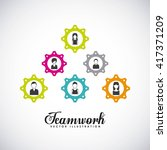 teamwork business design  | Shutterstock .eps vector #417371209
