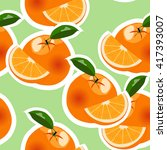 vector orange pattern | Shutterstock .eps vector #417393007