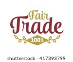 international fair trade day....   Shutterstock .eps vector #417393799