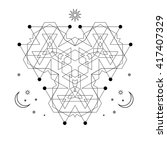 mystical geometry symbol.... | Shutterstock .eps vector #417407329