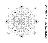 mystical geometry symbol.... | Shutterstock .eps vector #417407365