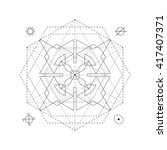 mystical geometry symbol.... | Shutterstock .eps vector #417407371