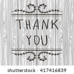 thank you  card templates.... | Shutterstock .eps vector #417416839