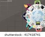 vector business work places  ... | Shutterstock .eps vector #417418741