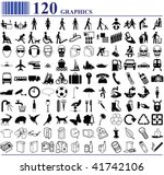 120 graphics various people