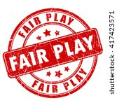 fair play rubber stamp vector... | Shutterstock .eps vector #417423571