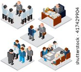 office life. business... | Shutterstock .eps vector #417429904