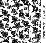 floral seamless pattern with... | Shutterstock .eps vector #417431284