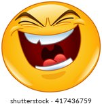 emoticon with evil laugh | Shutterstock .eps vector #417436759
