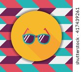 sunglasses flat icon with long... | Shutterstock .eps vector #417439261