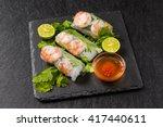 salad spring roll of asian wind ... | Shutterstock . vector #417440611