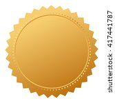 blank agreement gold seal... | Shutterstock .eps vector #417441787