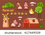 vector illustration of farm... | Shutterstock .eps vector #417449539