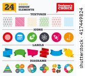 banner tags  stickers and chart ... | Shutterstock .eps vector #417449824