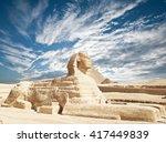sphinx giza  egypt. | Shutterstock . vector #417449839