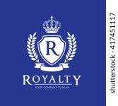 royalty luxury fashion brand... | Shutterstock .eps vector #417451117