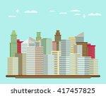 flat design urban landscape... | Shutterstock .eps vector #417457825
