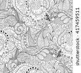 tracery seamless calming... | Shutterstock . vector #417459511