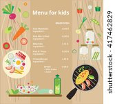 kids menu. vector template. | Shutterstock .eps vector #417462829