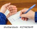 cheat sheet written in the hand ... | Shutterstock . vector #417465649