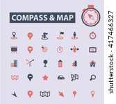 compass map icons  | Shutterstock .eps vector #417466327