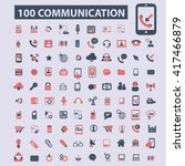 communication icons  | Shutterstock .eps vector #417466879