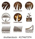 hair logo set vector   9 icon | Shutterstock .eps vector #417467374