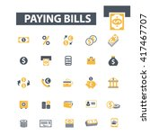 paying bills icons  | Shutterstock .eps vector #417467707
