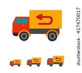 vector truck icon   Shutterstock .eps vector #417470017