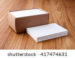 business card stack blank... | Shutterstock . vector #417474631