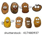 organically grown funny ripe... | Shutterstock .eps vector #417480937