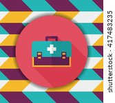 first aid kit flat icon with... | Shutterstock .eps vector #417483235