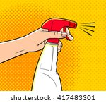 comics style illustration of a...   Shutterstock .eps vector #417483301
