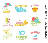 summer holidays design elements ... | Shutterstock .eps vector #417483499