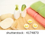 bath equipment with pink and... | Shutterstock . vector #4174873