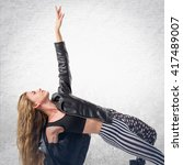 woman dancing street dance | Shutterstock . vector #417489007