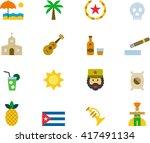 Cuba Flat Colored Icons