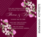 invitation or wedding card with ... | Shutterstock .eps vector #417492271