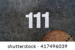 number 111  draw by paint       ... | Shutterstock . vector #417496039