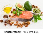 set of food with high content...   Shutterstock . vector #417496111