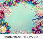 Happy birthday frame. party...