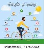 bike infographics. benefits of