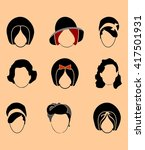 vector collection of the woman... | Shutterstock .eps vector #417501931