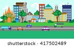 illustration of a city street... | Shutterstock .eps vector #417502489