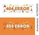 404 error lettering flat line... | Shutterstock .eps vector #417503935