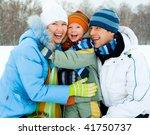 happy young family spending... | Shutterstock . vector #41750737